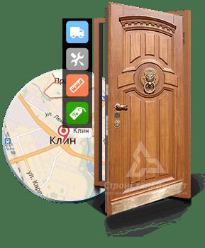 клинья для установки входной металлической двери